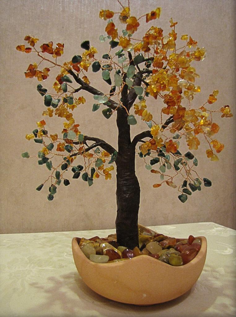 Дерево из камней своими руками мастер класс
